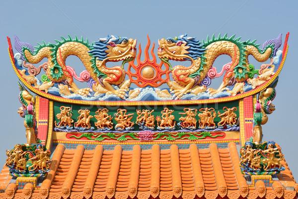 Dragon religiosa decorazione cinese tradizionale architettura Foto d'archivio © elwynn