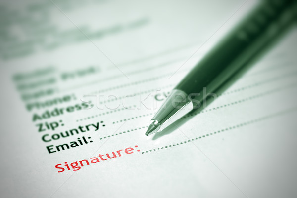 Abbonamento firma forma carta pen business Foto d'archivio © elwynn