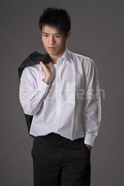 Lonely young man Stock photo © elwynn