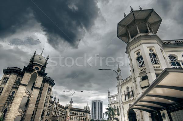 старые Ислам стиль зданий улице драматический Сток-фото © elwynn