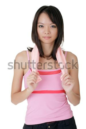 Woman of fitness Stock photo © elwynn