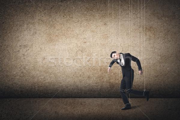 марионетка азиатских деловой человек работу бизнесмен портрет Сток-фото © elwynn