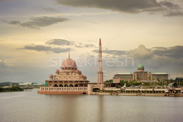Mezquita famoso mojón Malasia Asia puesta de sol Foto stock © elwynn