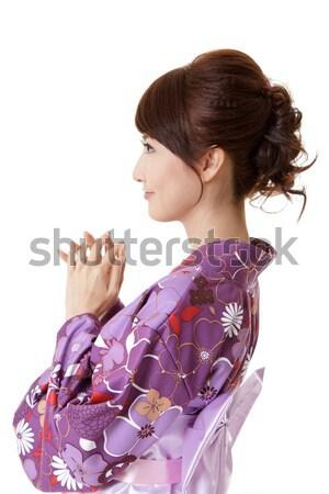 Японский женщину молиться портрет азиатских Сток-фото © elwynn
