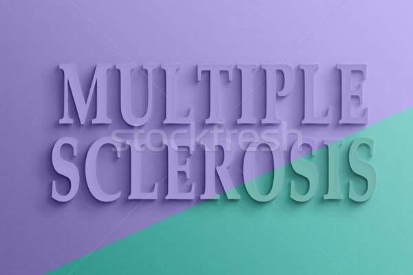 text of multiple sclerosis Stock photo © elwynn