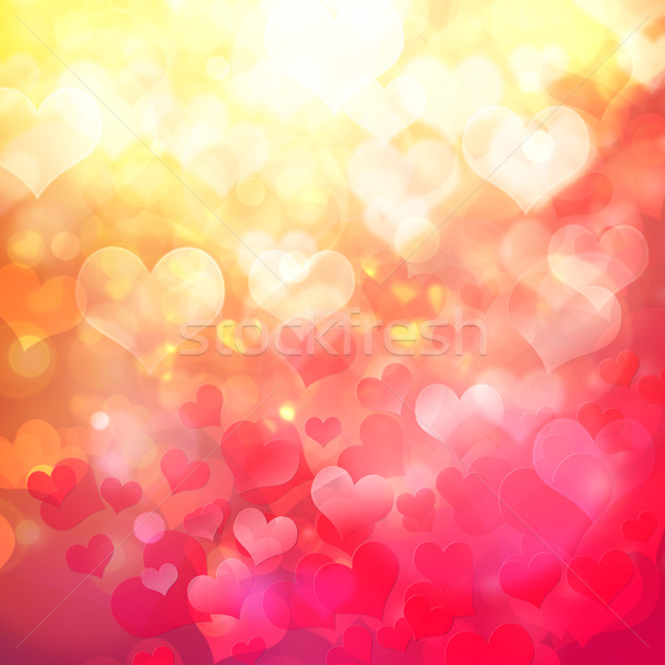 Coração bokeh abstrato amor projeto Foto stock © elwynn