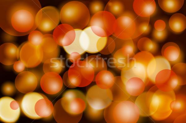 Bokeh preto luz arte bola papel de parede Foto stock © elwynn