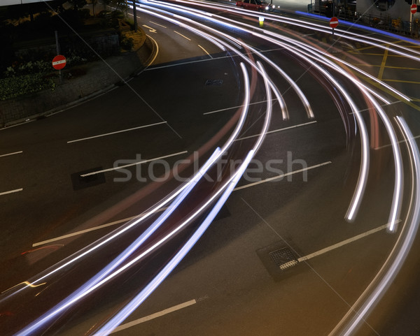 Car light trace  Stock photo © elwynn