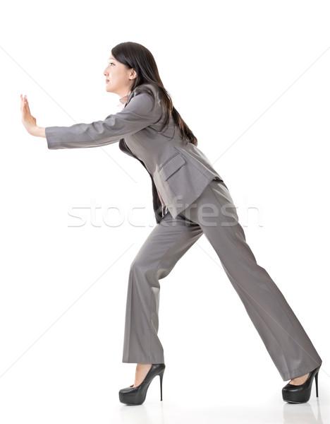 business woman push Stock photo © elwynn