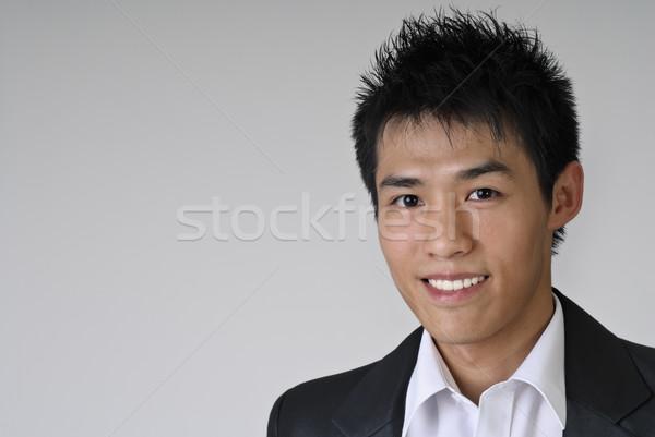 Niedojrzały młodych człowiek biznesu portret asian Zdjęcia stock © elwynn