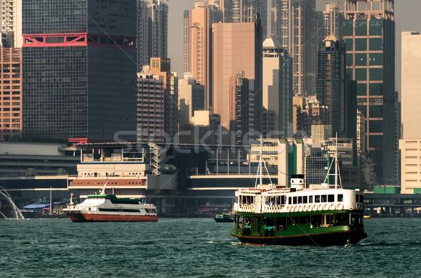 Hong Kong pont landschap haven beroemd star Stockfoto © elwynn