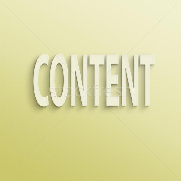 content  Stock photo © elwynn