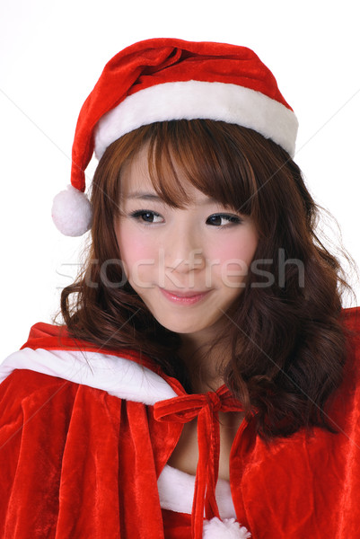 Adorable Christmas girl Stock photo © elwynn