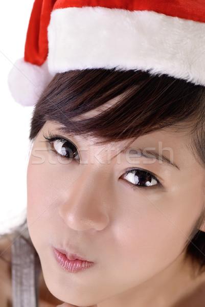 Cute Christmas woman Stock photo © elwynn