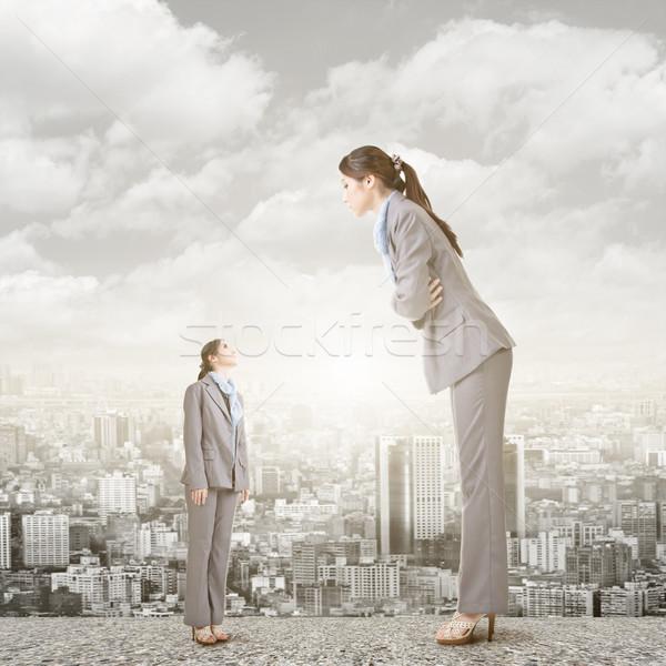 女性実業家 見える ビッグ バージョン 屋根 アジア ストックフォト © elwynn