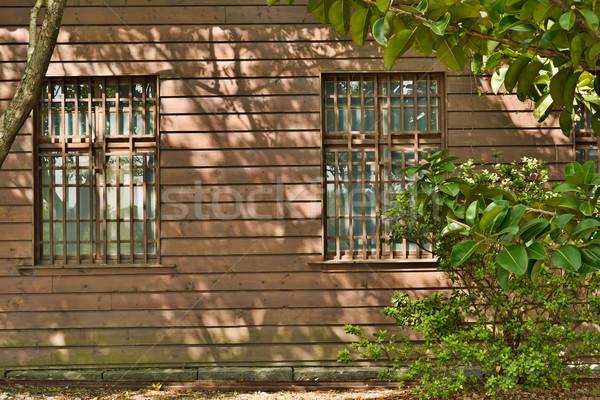 Wooden house exterior Stock photo © elwynn