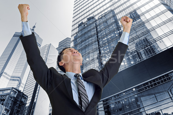 Businessman struggle Stock photo © elwynn
