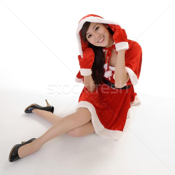 Attractive Christmas beauty Stock photo © elwynn