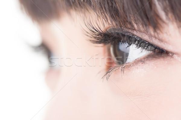 Bella donna occhi lungo ciglia asian modello Foto d'archivio © elwynn