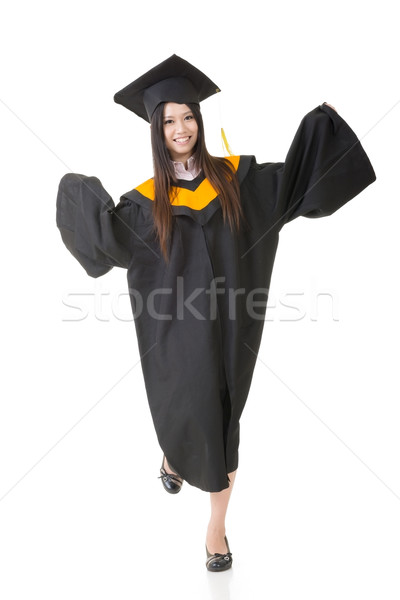 smiling young asian graduation woman Stock photo © elwynn