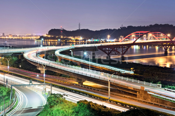 Night scene of cars light Stock photo © elwynn