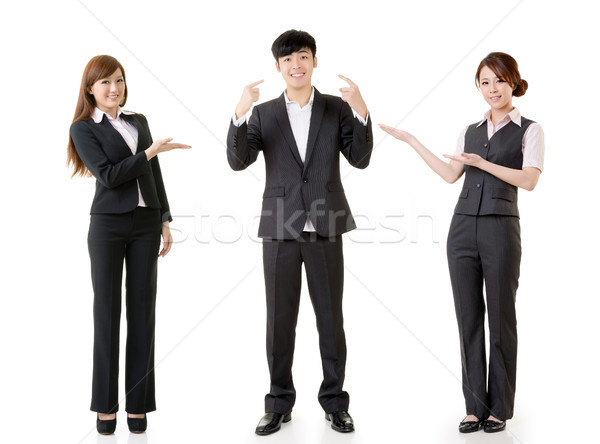 Happy smile business people Stock photo © elwynn