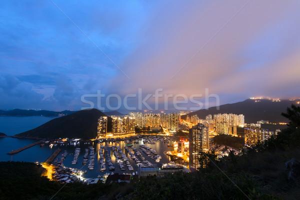 香港 夜景 高層ビル アジア 旅行 ストックフォト © elwynn