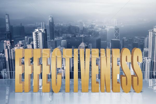 Capacité efficacité performances texte 3d ciel modernes Photo stock © elwynn