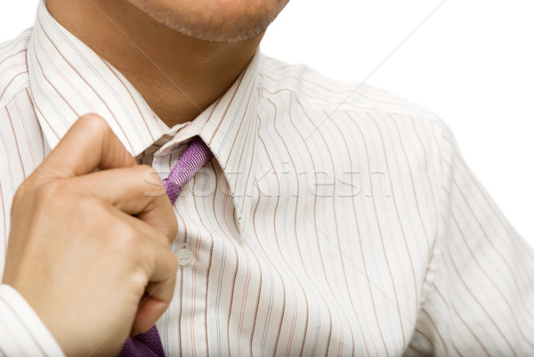 бизнесмен галстук Focus человека расслабиться корпоративного Сток-фото © elwynn