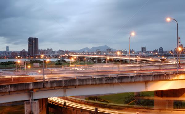 cityscape of traffic Stock photo © elwynn