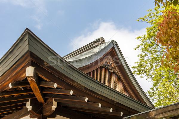 Japon stil çatı Osaka Japonya Asya Stok fotoğraf © elwynn