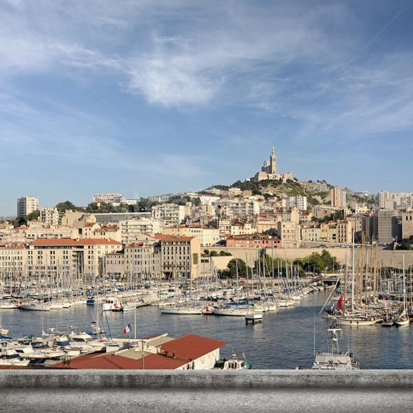 Marseille városkép híres tájékozódási pont hölgy LA Stock fotó © elwynn
