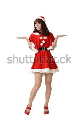 Attractive Christmas girl Stock photo © elwynn