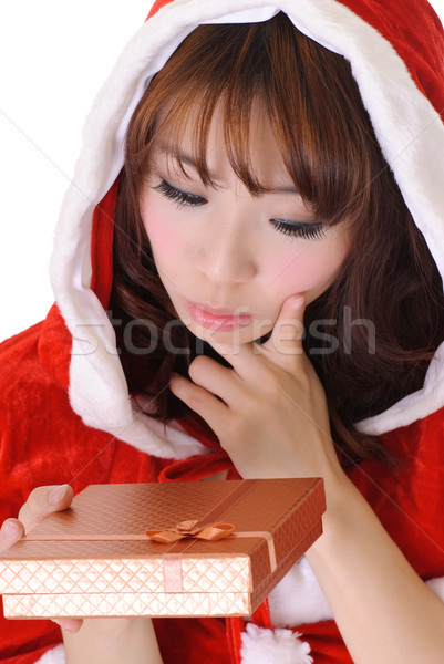 Cute Christmas girl Stock photo © elwynn