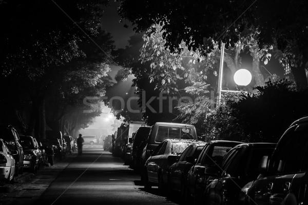 City Night straat auto klein een Stockfoto © elwynn