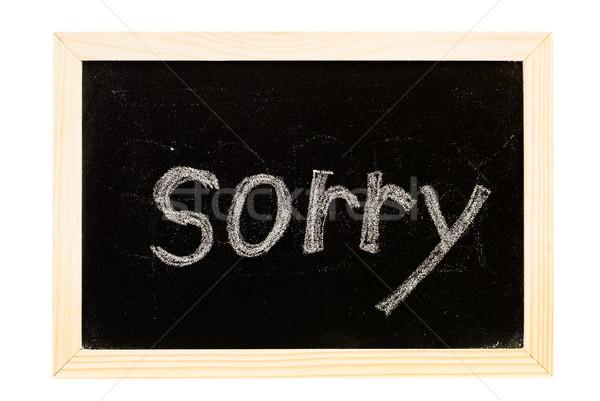blackboard written 'sorry' Stock photo © elwynn