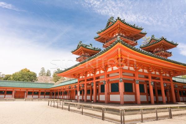 Santuario cielo blu kyoto Giappone cielo viaggio Foto d'archivio © elwynn