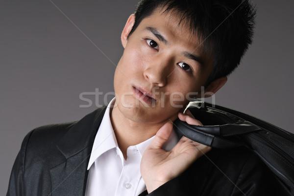 мрачный молодые бизнесмен портрет азиатских Сток-фото © elwynn