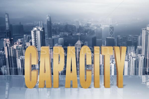 Pojemność wydajność wydajność 3d tekst niebo nowoczesne Zdjęcia stock © elwynn