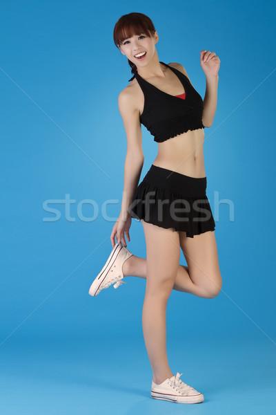 Сток-фото: молодые · здорового · девушки · Азии · портрет