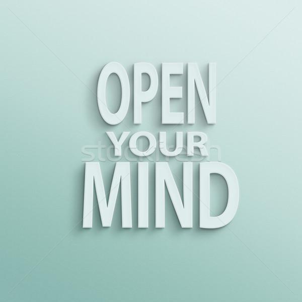 ストックフォト: オープン · 心 · 文字 · 壁 · 紙 · 現在