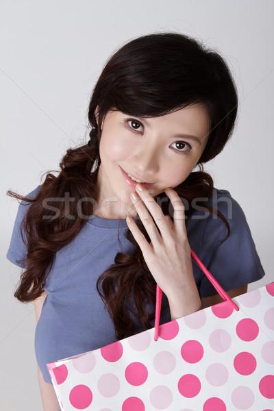 Сток-фото: привлекательный · торговых · женщину · китайский · портрет
