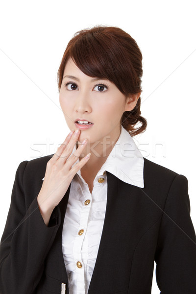 Surprised young business woman Stock photo © elwynn
