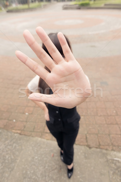 stop gesture Stock photo © elwynn