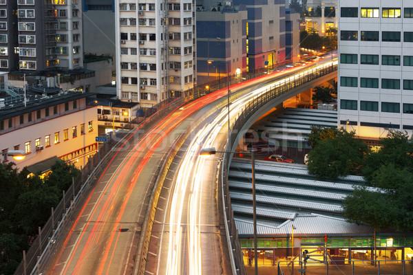 City night scene Stock photo © elwynn