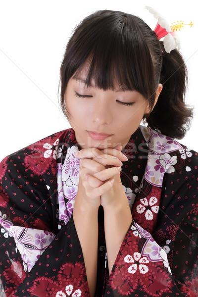 молиться красивой молодые Японский девушки Сток-фото © elwynn