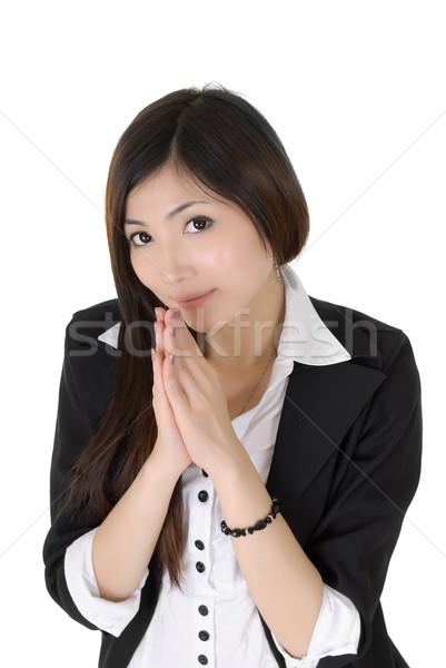 Сток-фото: деловой · женщины · привлекательный · молиться · белый · бизнеса · красоту