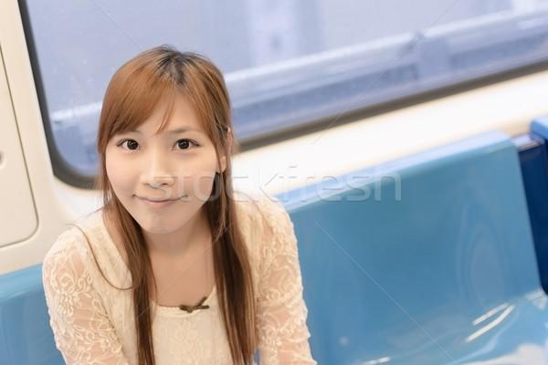 ázsiai szépség nők városi kínai női Stock fotó © elwynn