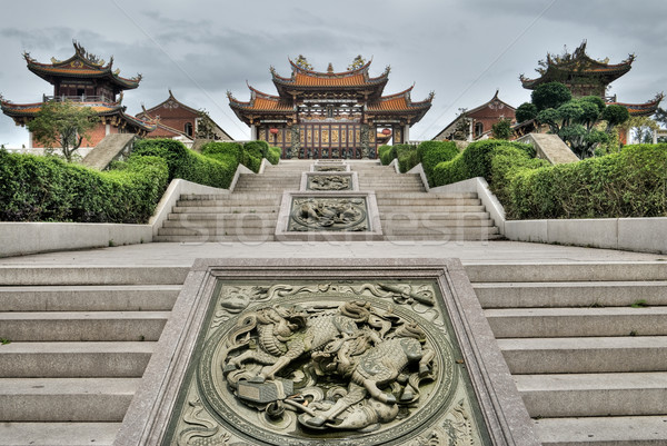 Photo stock: Chinois · traditionnel · temple · bouddhisme · bâtiment · ciel