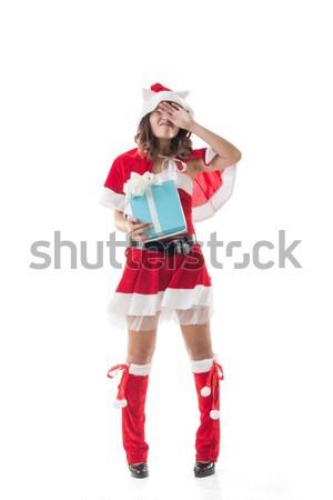 Attractive Christmas lady Stock photo © elwynn
